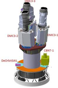 The Spacecraft mounted on the Launch adapter called the L-adapter. Image Courtesy: ISRO