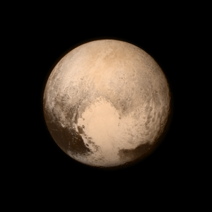 Pluto as seen by the New Horizons spacecraft on its flyby of the planet, Pluto. Image Credit: NASA
