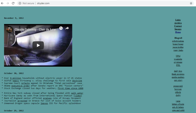 A screenshot of the website, stryder.com