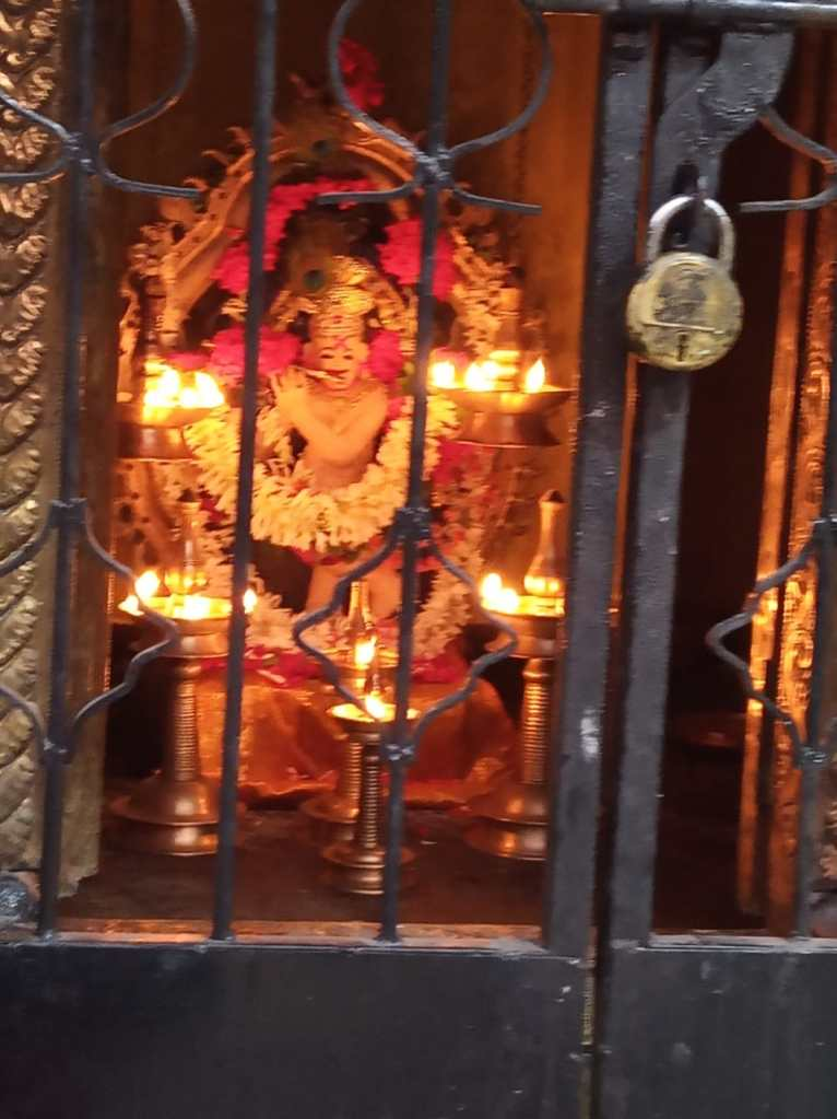 Photo of The Sanctum Sanctorum at the Ayyappa Temple, Dhanori, Pune. Photo Credit: Dhanya Vallat