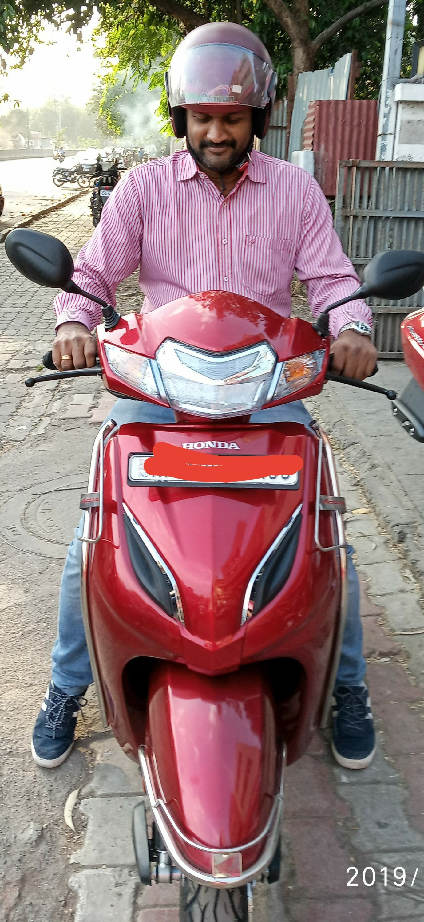 Pradeep taking delivery of the Activa